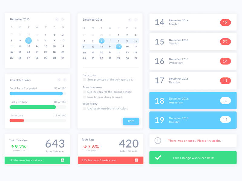 Weekly Calendar Ui : Top downloads sketch resources freebie free