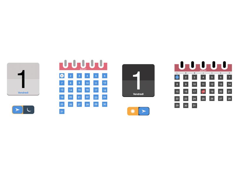 Calendar Typography Kit : Ios ui kit sketch freebie download free resource for