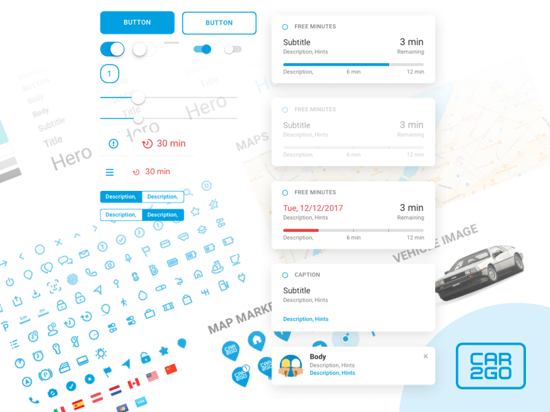 Car2go App Library Sketch Freebie Download Free Resource For