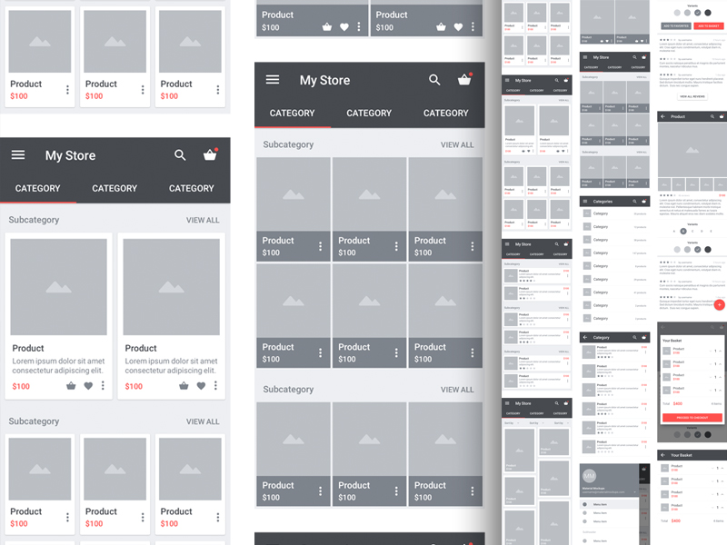 Carbon Material Wireframe Kit