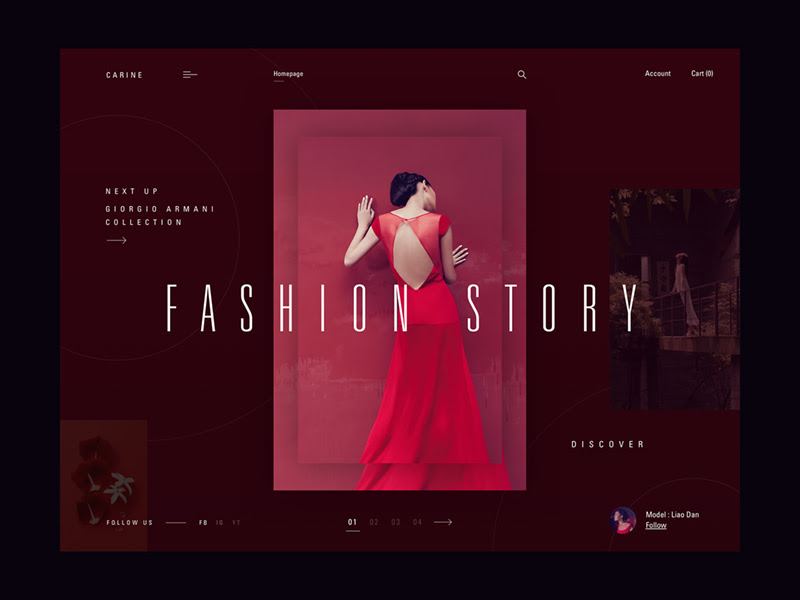 Fashion Homepage Concept