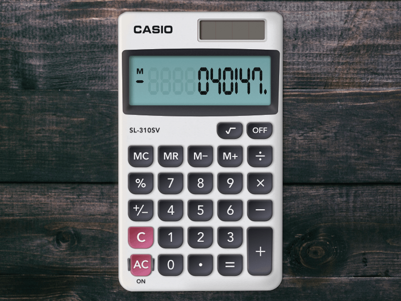 Casio SL-310SV Calculator