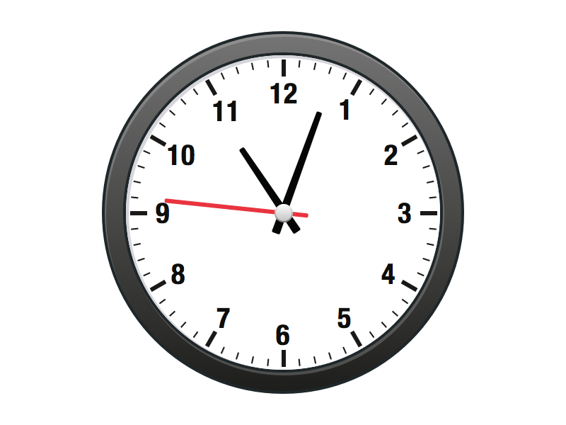 how to read an analog clock faster