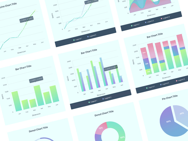 Data visualization gui charts graphs diagrams tables free resources charts ui kit ccuart Gallery