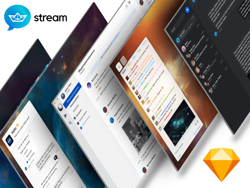 Chat UI Kit by Stream