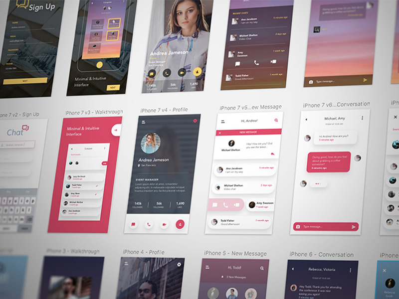 iOS UI Kit Android GUI Templates Responsive Layout Wireframe free