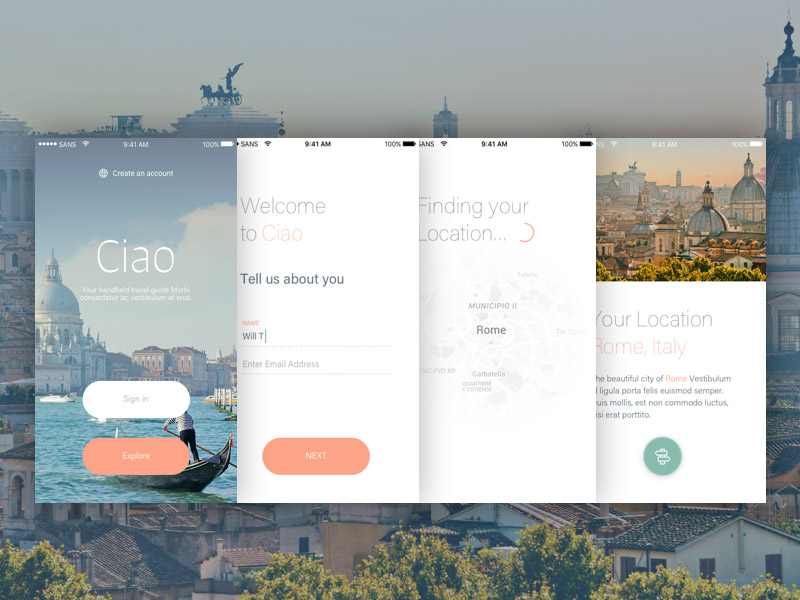 Ciao UI Kit Sample