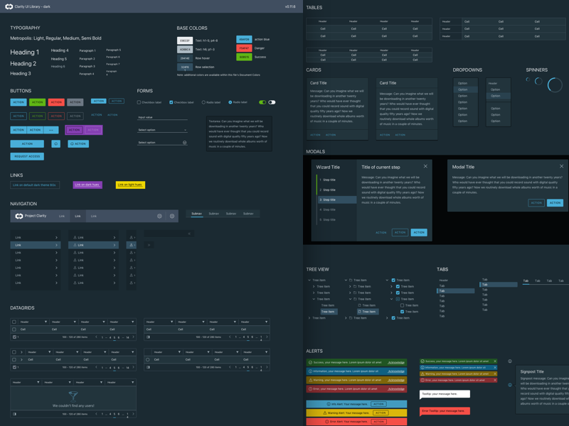 VMWare Clarity Dark UI Kit