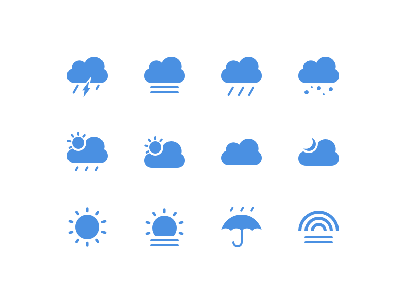 12 Weather Icons Sketch freebie - Download free resource for