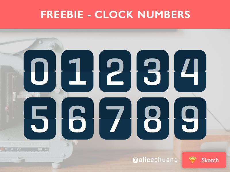 clock numbers sketch freebie download free resource for sketch sketch app sources