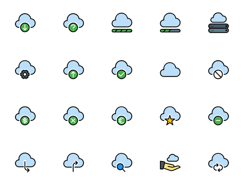 Cloud Service Icons Pack