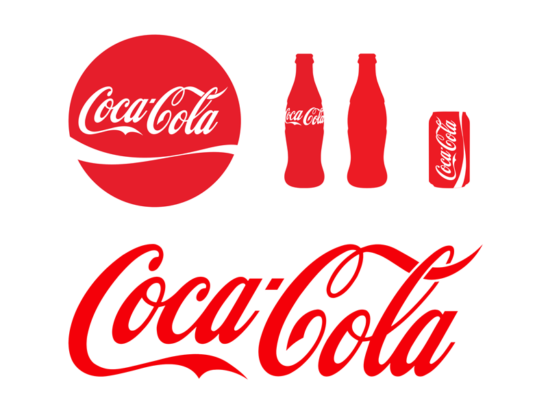 cocacola logo bottle vector sketch freebie download