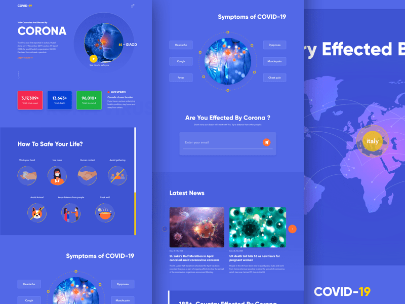 COVID-19 Landing Page