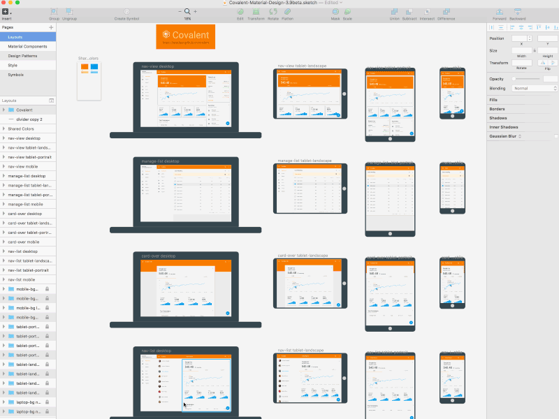 Material Design Sketch Template v2 Sketch freebie - Download free