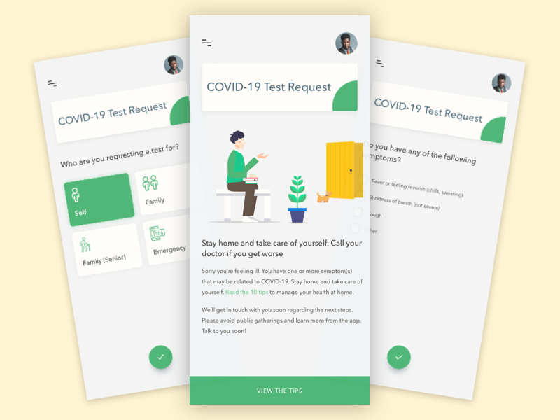 COVID-19 Test Booking App