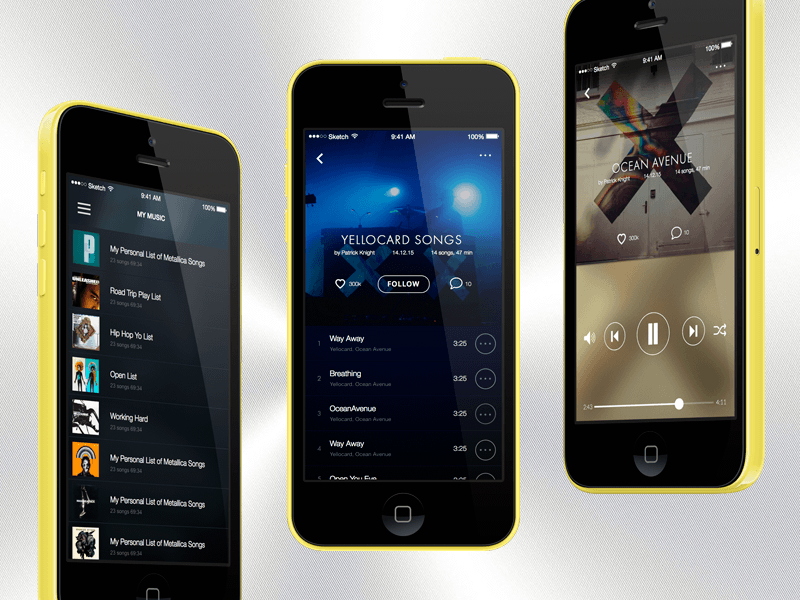 Music App Player Concept