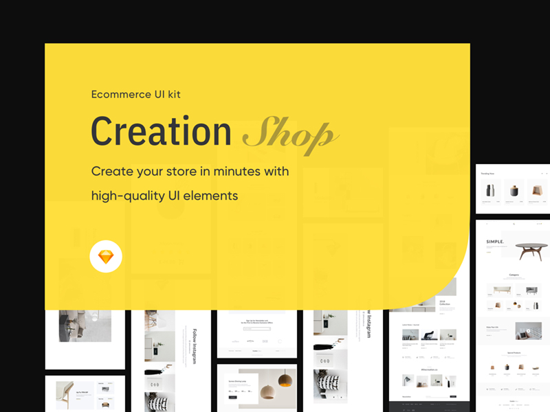 Creation Shop UI Kit