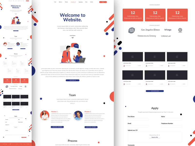 Website, Landing Page and Web UI Designs free resources for Sketch ...