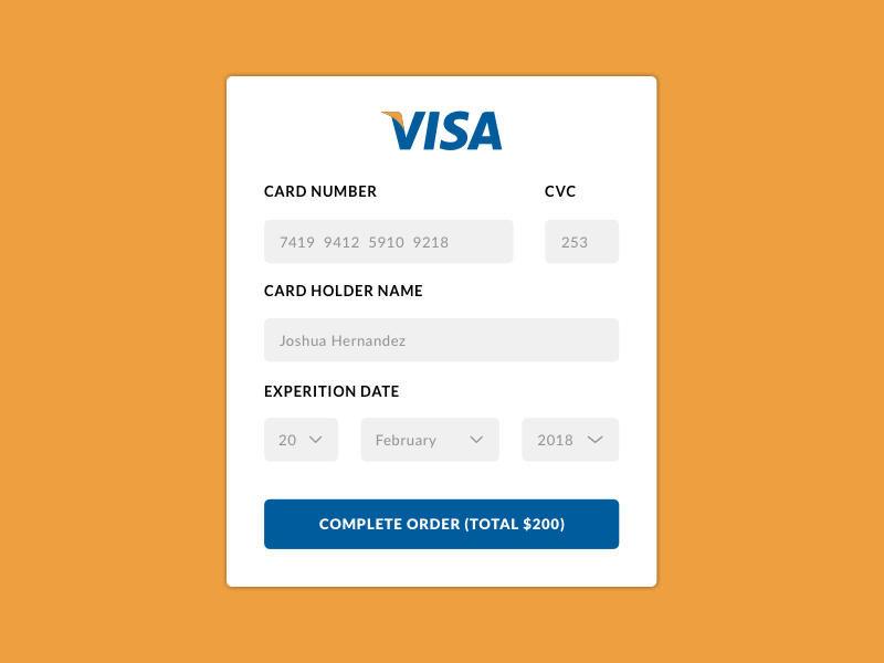 Credit Card Payment Prompt