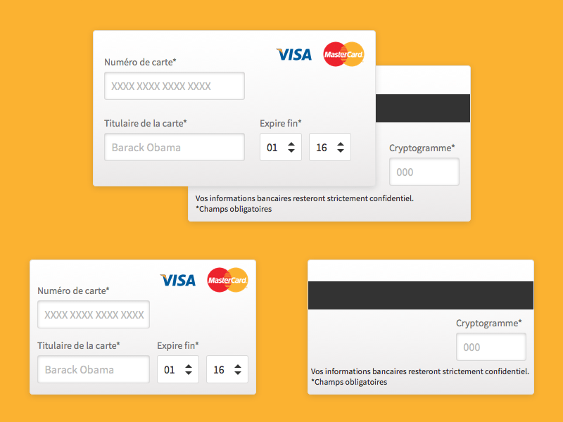 Credit Cards Form Sketch freebie - Download free resource for Sketch ...