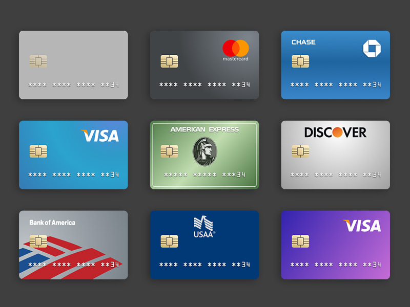 Credit Card Templates Sketch freebie - Download free resource for