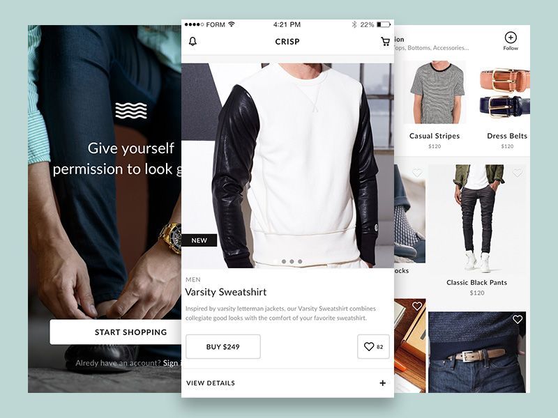 Sample Ecommerce UI Kit