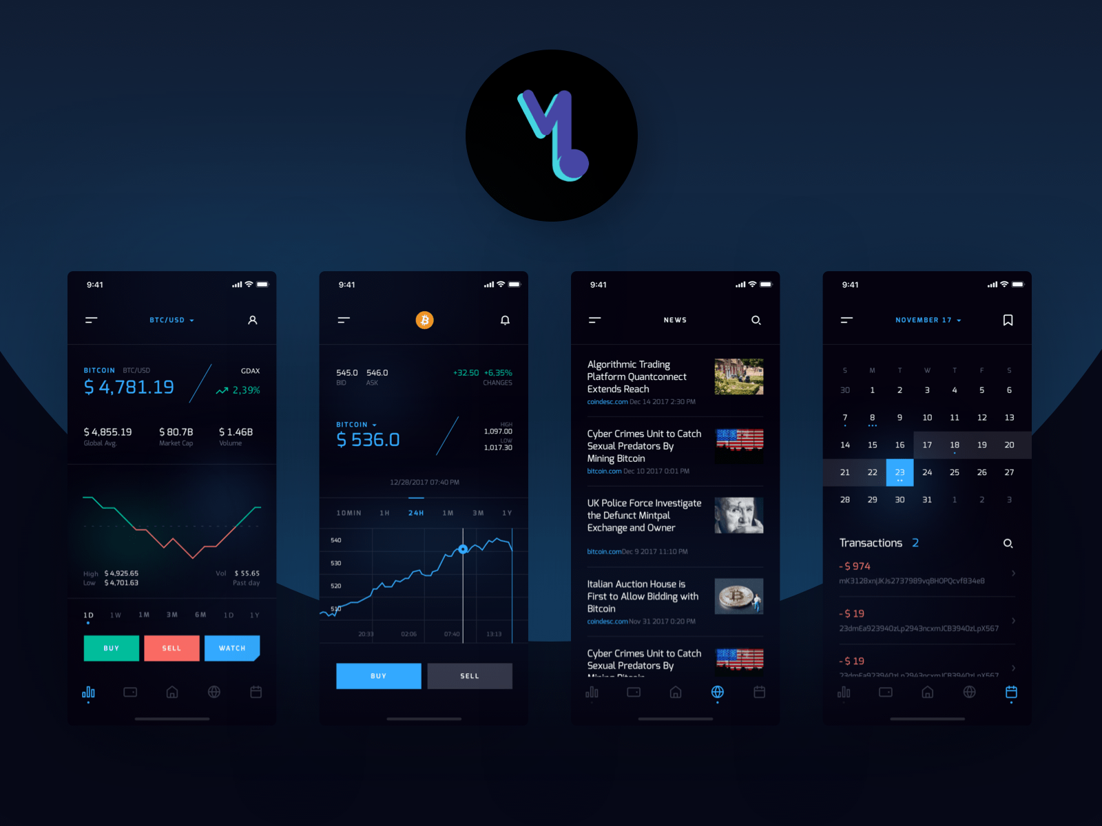 cryptocurrency trading on application