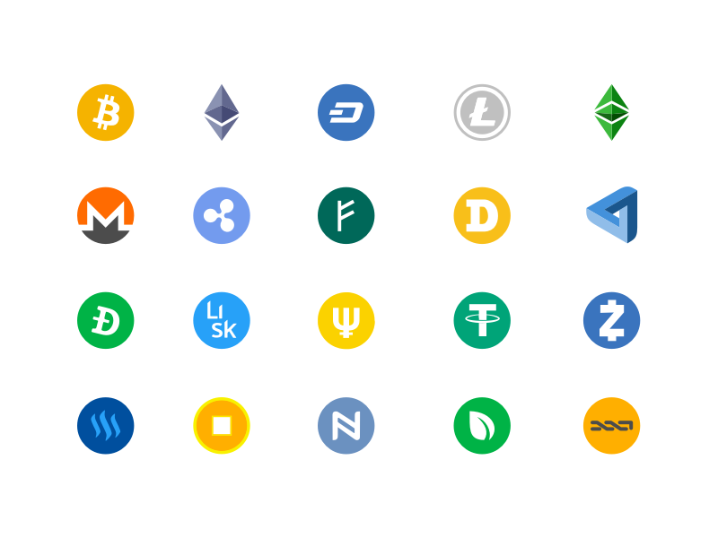 100 cryptocurrency vector icons sketch freebie - download free resource for sketch