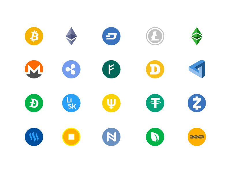 Crypto Logos Sketch Freebie