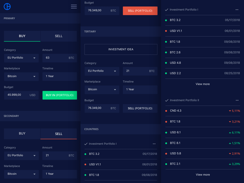 Crypto Sample Transaction View
