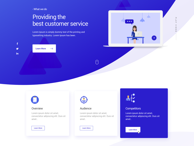 Customer Service Landing Page