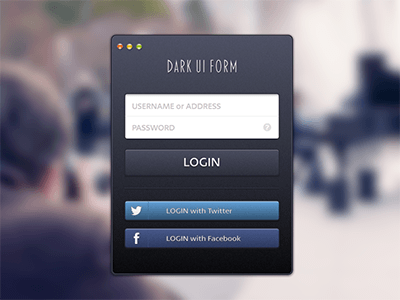 Dark UI Form