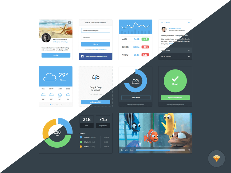 Dark and Light Ui Kit