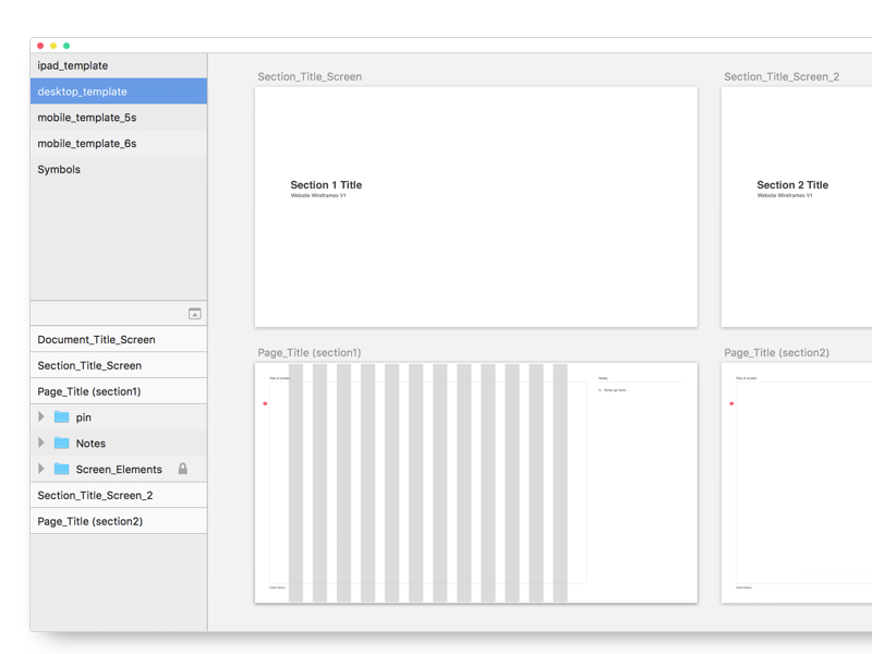 Wireframe Templates Sketch Freebie