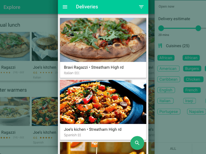 Food Delivery App Sketch freebie - Download free resource