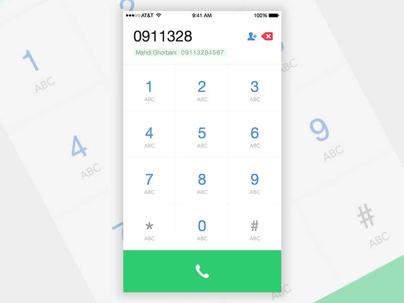 Speed Dial - Smart T9 Dialer app UI | Search by Muzli