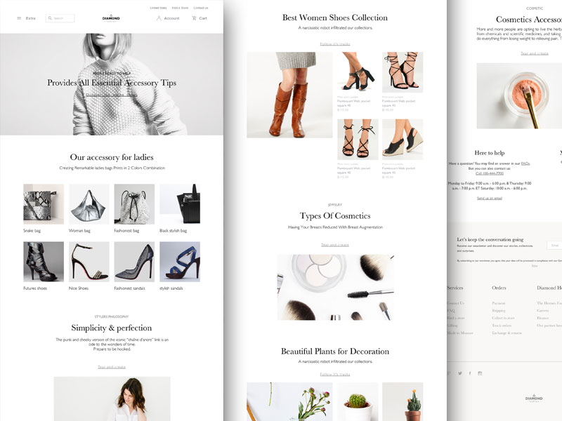 Fashion Website Wireframe