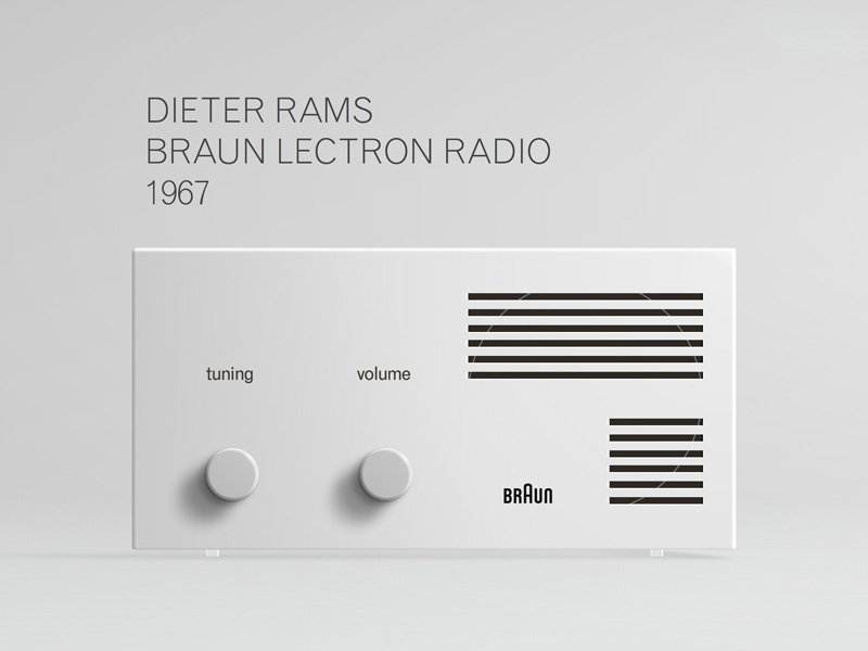 dieter rams braun clock 1978 sketch freebie