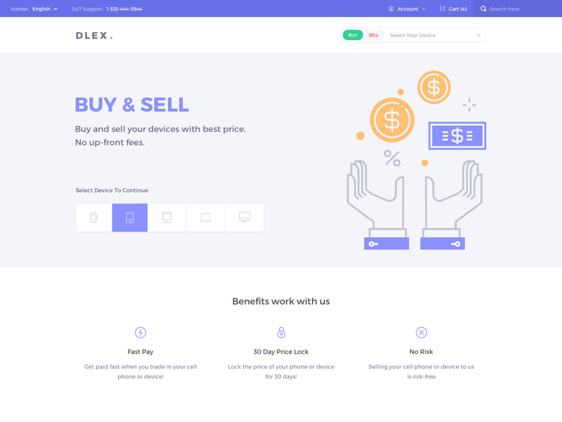 Dlex E-Commerce UI