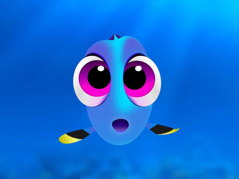 Finding Dory Illustration