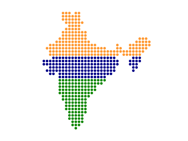 Dotted Map of India