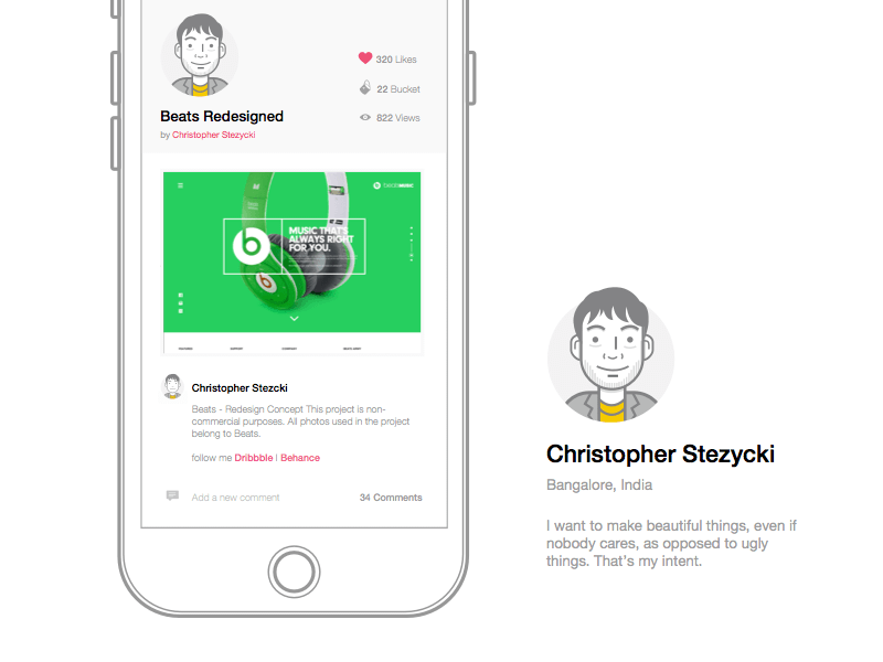 Beats - Product Pages Website Template Sketch freebie