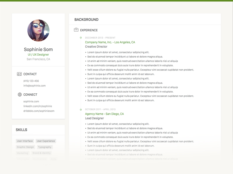 Clean Resume Template  Download Free Resume