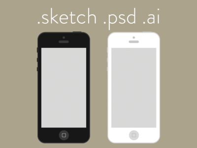Flat iPhone Wireframe