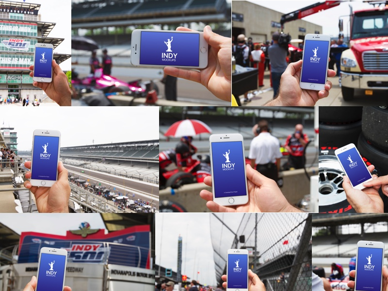 Indy 500 iPhone Photo Mockups, Racing Edition