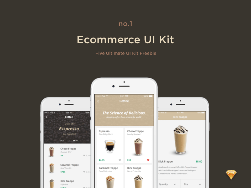 E-commerce UI Kit Sketch freebie - Download free resource for Sketch