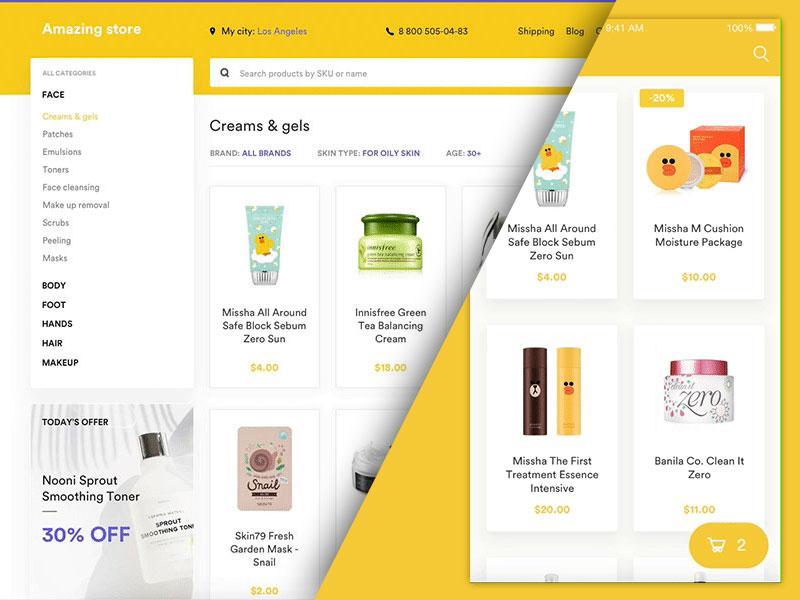 eCommerce UI Kit Sketch freebie - Download free resource for Sketch