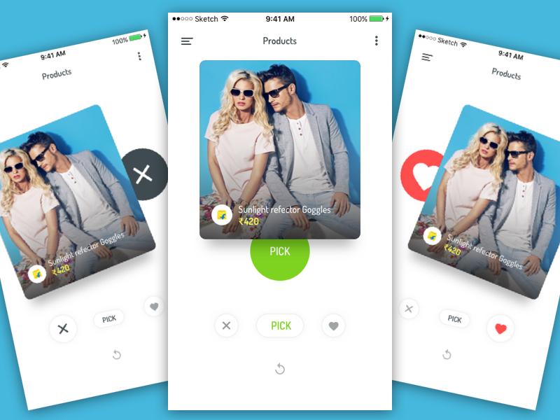 Product Swipe Gesture Interaction Sketch freebie - Download free