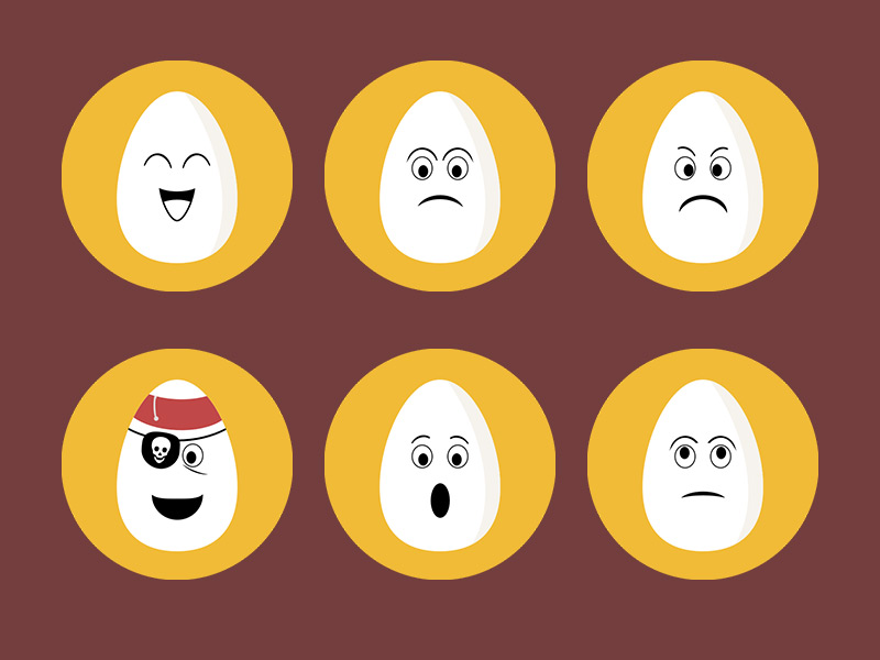 Egg Faces Icons