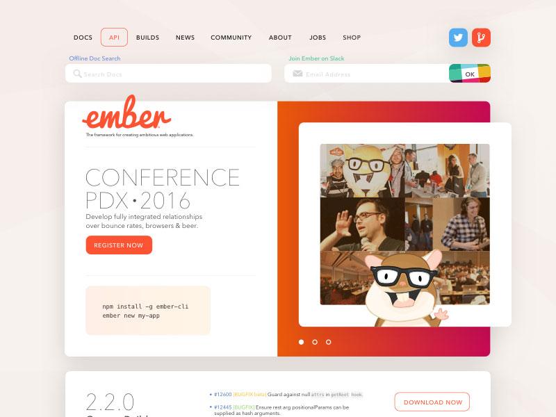 Ember Web Concept Sketch freebie - Download free resource for Sketch - Sketch App Sources